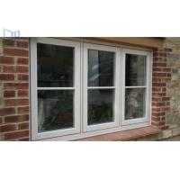 Quality Double Tempered Glass French Aluminium Casement Windows for Commercial Building for sale