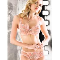 Quality Adults Fashionable Customized Embroidered Matching Bra And Underwear Sets With OEM ODM for sale