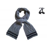 Quality Men Cable Knitted Neck Scarf , Thick 100% Acrylic Chunky Knitted Winter Scarf for sale