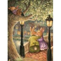 China Rabbit family photo DIY Acrylic Paint By Number kit Oil Painting By Number 40x50cm Flower on sale