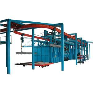 China Overhead Chain Hanger Type Shot Blasting Machine High Chrome One Year Warranty on sale