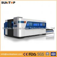 2000W Fiber Laser Cutting machine with exchanger working table , laser protection cabinet