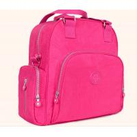 Polyester Cute Baby Diaper Backpack  Rose Color Eco Friendly Advantage