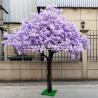 Safe Jacaranda Wood Purple Artificial Flower Tree Fire Retardant for sale