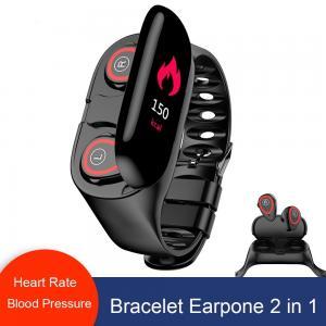 Buy cheap Smart Bracelet Bluetooth 5.0 Wireless Earphone Heart Rate Blood Pressure Tracker from wholesalers