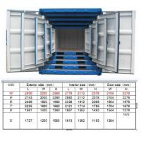Quality Railway Steel Mini Shipping Container 7ft For Storage Transportion Cargo for sale