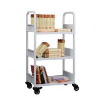 Quality Three layers book cart,library book cart with 3 flat shelves RCA-3S-LIB01 for sale