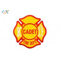 China Customized Designs Yellow Color Iron On Embroidered Patches For Clothing on sale