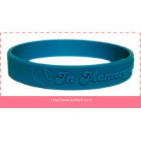 Quality embossed silicone wristband bracelet without color filling for sale