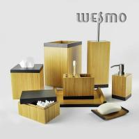 Quality Smooth and Anti Water Bamboo  Bathroom Accessories  WBB0617A for sale
