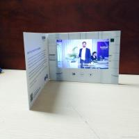 Quality HD 1024 X 600 LCD Video Brochure With Video Screen , Digital Greeting Cards for sale