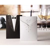 China Luxurious Funny Bride And Groom Elegant Wedding Invitations Cheap Price CW2011 on sale
