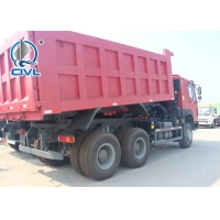 China 10 Tires howo New Heavy Duty Dump Truck 336hp 6x4 Rhd 30 Ton White / Red / Green color on sale