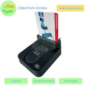 Buy cheap ID Smart card reader with fingerprint sensor with Sam slot  USB fingerprint payment reader product