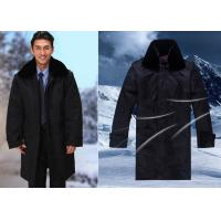 Quality Winter Security Guard Uniform Coat / Wind Resistant Coat With Two Pieces Set for sale
