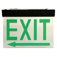 Quality Energy Saving Ceiling Mounted LED Aluminum Exit Sign With Acrylic Plate for sale