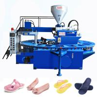 Quality jieyang jinzhihui pvc jelly&air blowing(pcu)shoe injection molding machine(20 workstations) for sale