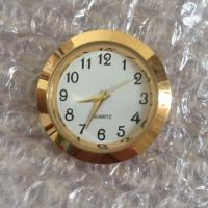 China 37mm insert clock alloy insert clock gold arabic clock  fit ups on sale