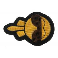 Quality Kids Embroidered Applique Patches Laser Cut With Brown Lepord Fur Glass for sale
