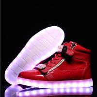 China Reathable LED Light Up Sneakers Red Light Up Shoes Rechargeable Function on sale