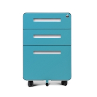 Quality Office Furniture Steel Mobile Pedestal 3 Drawers Cabinet Steel Round Edge for sale