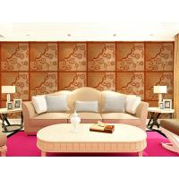 Quality Real Leather 3D Living Room Wallpaper Royal Luxurious Wall Decal PU leather Panels for sale