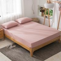 Quality washed cotton bed sheet Japanese style bedspread simple striped fitted sheet bed mattress cover wholesale for sale
