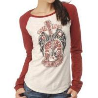 Quality New Lucky Brand One Love Guitar Raglan T-Shirt L Large (ANG-TR05) for sale