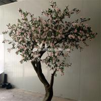 Pink Standard Rose Artificial Flower Tree 2m Height Environmental Protection for sale