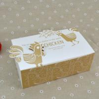 Quality Logo Printed Popcorn Chicken Box , Disposable Paper Box For Fast Food for sale