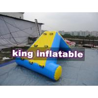 Buy Commercial 0.9mm PVC Tarpaulin Inflatable Big Air Slide / Blob For Water Park at wholesale prices