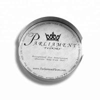 Buy Round Metal Drink Coasters Holder Set , Personalised Beer Mats Silver Color at wholesale prices