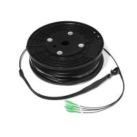 Quality Custom Assemblies Pre Terminated Multi Fiber Cables SC APC Cord With Pulling Sock 4F for sale