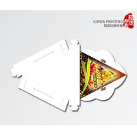 Quality Paper Pizza Boxes , Foldable Triangle Shape Cardboard Pizza Boxes With Gloss Art Paper for sale