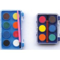 8 water color paint set with paint brush,Aquarela 8 colour paint set with brush