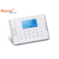 Quality Quad-Band GSM+PSTN Dual Network Touch Keypad LCD Display Wireless House Alarm System for sale