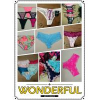 China hot selling cheap assorted women sexy lace underwear ladies lingerie mature T-back Summer panties stock on sale