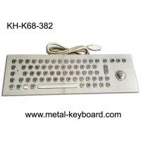 Buy cheap 67 Keys Industrial Ss Metal Computer Keyboard With 25mm Laser Trackball Mouse And Buttons from wholesalers