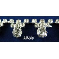 Quality silver plastic rhinestone mesh trimming for sale