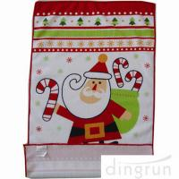 Quality Custom Printed Microfiber Kitchen Towels Christmas Design Low Cadmium for sale
