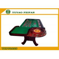 Quality Green Poker Game Table With Roulette Gambling Casino Roulette Table for sale
