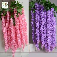 Quality UVG Indoor cheap fake flowers with wisteria branches for church wedding decoration WIS006 for sale
