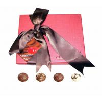 Quality Pretty Pink 250gsm Art Paper Chocolate Packaging Boxes Custom Plain Coated Paper Box for sale