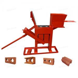 Quality Large Capacity Manual Brick Press Machine , Block Making Machine Long Life for sale
