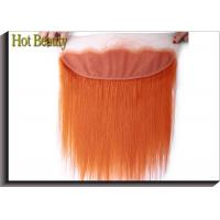 Quality Soft Orange Human Hair Lace Closure 4 * 13 Inch No Chemical Full Cuticle Aligned for sale