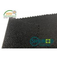 Quality Black PA Coated Woven Interlining Twill Woven Stretch Interfacing for sale