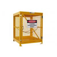 Quality Yellow Gas Cylinder Storage Cages Used For Gas Tank And Cylinder Locker for sale