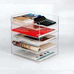 Quality Fashion Acrylic Brochure Holders Home Decoration Acrylic Book Storage Box for sale