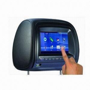 Quality 7-inch Digital TFT LCD Screen/FM/IR Function/OSD Display/Multilingual Menu/Games Headrest DVD Player for sale