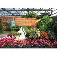 Quality Galvanized Frame Finishing Garden Glass Greenhouse 6mm Polycarbonate Covering for sale